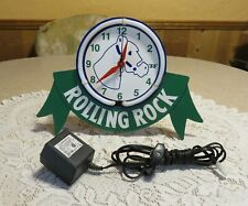 New ListingHtf LaTrobe Brewing Co Rolling Rock Beer Tabletop Neon Sign/Clock Works Gr8t