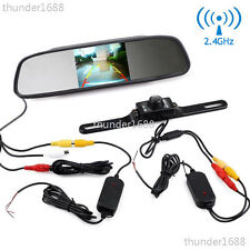 "Wireless Car SUV Rear View Kit 4.3"" LCD Mirror Monitor + IR Reversing Camera Kit"