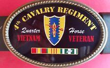 Vietnam Veteran  4th CAVALRY REGIMENT Epoxy Belt Buckle - NEW!