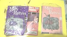 Walt Disney Mary Poppins 2x pairs of stockings  1x pair tights vintage  1960s
