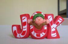 1978 Joy Elf Hallmark Merry miniature Christmas ornament Candy Cane letters