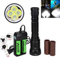 Diving 120m 20000LM 4X XML T6 LED  Flashlight Scuba Torch Waterproof Lighting K