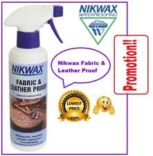 NIKWAX Fabric and Leather Proof Spray 300ML Waterproofing Breathability Footwear
