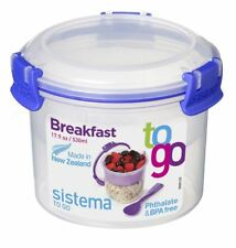 Sistema Breakfast To Go 530ml Storage Container Food Lunch Compact Travel Picnic