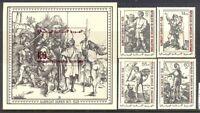Mauretanien Mi. 628-31, Bl.- 23 ** MNH   Dürer (7057