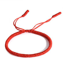 3pcs/set Tibetan Buddhist Handmade Knots Lucky Rope Bracelet Adjustable Unisex 1pcs Red