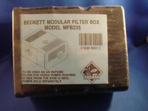 Beckett Modular Filter Box Model MFB235 For Versa Pumps NEW OLD STOCK