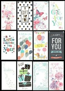 Money Gift Card wallet - Choice of Title and Design, Birthday, wedding etc