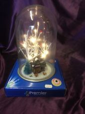 Christmas LED Glass Decorative Dome Approx 29cm Height - Christmas Cottage