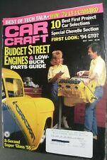 2 CAR CRAFT MAGAZINES -  Issues May 1993 and July 1993