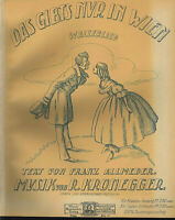 """"""" Das gibts nur in Wien """" Walzerlied von R. Kronegger, übergroße, alte Noten"""