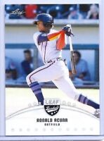 """NEW"" RONALD ACUNA 2018 LEAF DRAFT ROOKIE CARD! ATLANTA BRAVES PHENOM!"