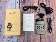 Digital Voice Recorder Vandlion 8Gb Sound Audio Recorder Dictaphone for Lectures