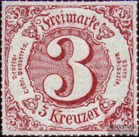 Thurn und Taxis 52 mit Falz 1866 Ziffer