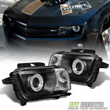 Blk 2010-2013 Chevy Camaro LED Halo Projector Headlights Headlamps 10 11 12 13