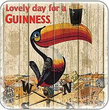 Guinness Toucan Weather Vane cork backed drinks coaster (sg)