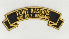 "Flint Kaserne, Bad Tölz Germany 4"" embroidered scroll tab patch"