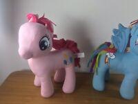 My Little Pony Small Plush Bundle X2 Rainbow Dash/ Pinkie Pie)