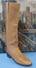 Louisa Knee High Beige Leather English Riding Boots Sz 6B