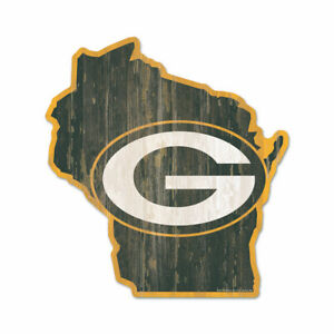 Green Bay Packers Wooden Sign NFL Football Federal State Wisconsin