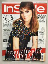 InStyle Magazine Leighton Meester Gossip Girl Rosie Leslie Game of Thrones 2014