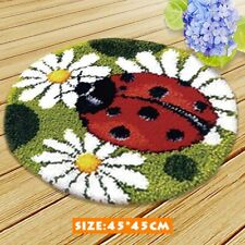 Round Mat Latch Hook Kit Needlecrafts Rug Cushion Making DIY Embroidery Carpet