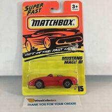 Mustang Mach III #15 * RED * Matchbox Superfast * HB24