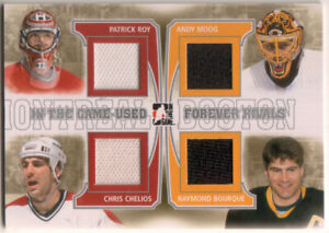 2013-14 ITG In The Game Used Forever Rivals Roy Chelios Moog Bourque