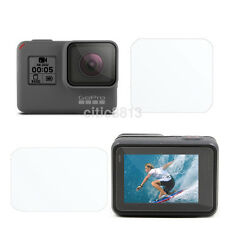 Tempered Glass Screen Protector Guard Film For GoPro Hero 5 Screen and Lens New