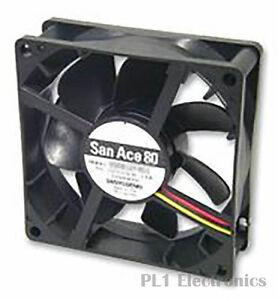 SANYO DENKI - SANACE FANS    9S0824M4011    Axial Fan, Silent, Medium Speed, 80