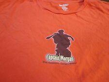 "Captain Morgan Shirt Red ""Drink Responsibly  Captain's Orders""  T Shirt Large P5"