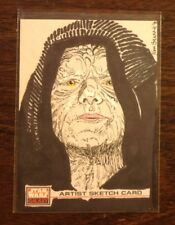 Emperor Palpatine Topps Star Wars Galaxy 4 sketch card 1/1
