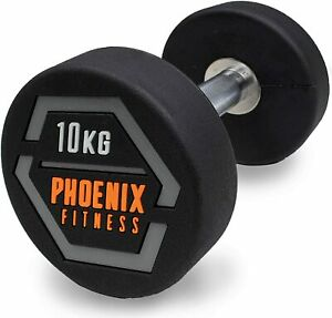 Fixed Weight Single Steel Dumbbell Heavy Strength Home Gym Fitness Workout 10KG