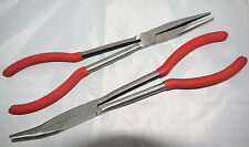 Trident tools 2 pc long nose plier set 1 straight and 1 45 degree T241100
