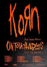 "KORN TOUR POSTER / KONZERTPLAKAT ""THE UNTOUCHABLES TOUR 2002"""