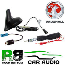 VAUXHALL Matt Black Amplified Shark Fin Car Radio Roof Mount Aerial Antenna
