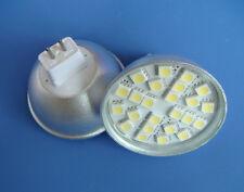 10x Warm White MR16 G5.3 AC/DC12-24V 24-5050 SMD LED Bulb Light With glass cover