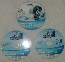 Ulead Video Studio Plus 11 (2 cd's) + Movie Factory Plus 6 (1cd)