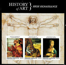 Grenada Grenadines 2013 MNH Hist Art High Renaissance Da Vinci 3v M/S Stamps