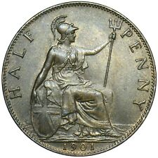 More details for 1901 half penny / queen victoria  / uncirculated / collectible antique   #bu11