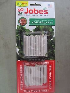Fertilizer Spikes For Houseplants Jobes # 05001T  50 Spikes  NEW