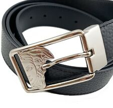 Versace Collection Medusa Leather Belt in black adjustable size 110/ 40 nwt