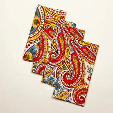 April Cornell Bright French Paisley 100% Cotton Set of 4 Napkins