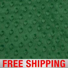 """Emerald Minky Dimple Dot Fabric - 60"""" Wide - Style# 12502 - Free Shipping"""