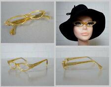 Frame France Selecta Gelb Brille Cat Eye Lesebrille Rockabilly Ära 50er Jahre
