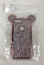 iPhone 7 Plus Pink/Rose Gold Glitter Mouse Ear Phone Case New