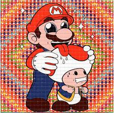 Mario Licking Mushroom Super BLOTTER ART perforated sheet paper psychedelic art
