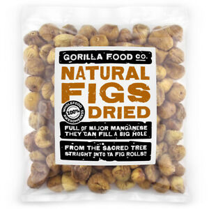 Gorilla Food Co. Natural Whole Dried Figs - 200g - 3.2kg