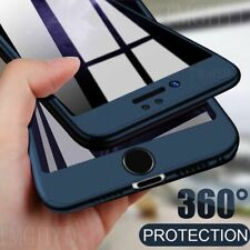 For iPhone 12 11 8 XS Max X XR SE 360 Full Cover Phone Case With Tempered Glass