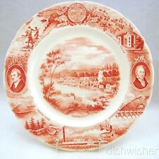 "Johnson Brothers England for Meier & Frank Co Oregon State Plate Red 10 3/4"" Exc"
